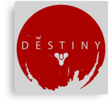 Destiny - Red Logo by AronGilli Canvas Print