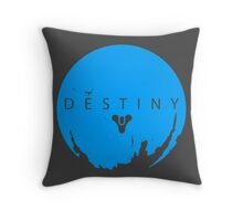 Destiny - Skyblue Logo by AronGilli Throw Pillow