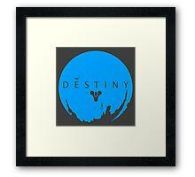Destiny - Skyblue Logo by AronGilli Framed Print