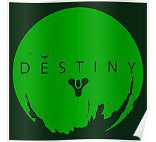 Destiny - Green Logo by AronGilli Poster