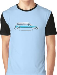 MINI, CAR, BLUE, BMW, BRITISH ICON, BRITAIN, UK, MOTORCAR Graphic T-Shirt