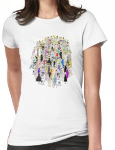 Tokyo Punks Two Pattern Womens Fitted T-Shirt