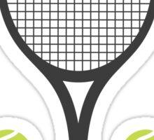Tennis racket and tennis balls stickers Sticker
