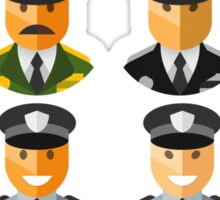 Police Officers & Chiefs Sticker