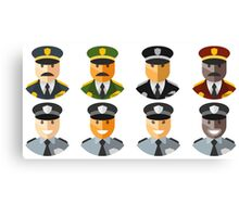 Police Officers & Chiefs Canvas Print