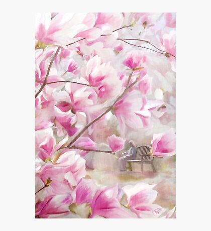 April's Pink and White Photographic Print