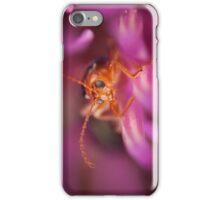 Beetle Peeking From Pink Flower iPhone Case/Skin