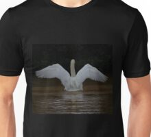 Mute Swan on the lake at Tehidy Woods in Cornwall.   Unisex T-Shirt