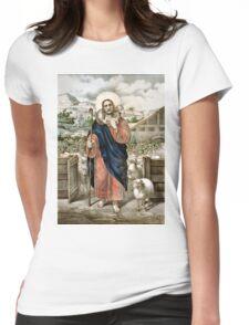 Good shepherd Je suis el bon pasteur - 1856 Womens Fitted T-Shirt