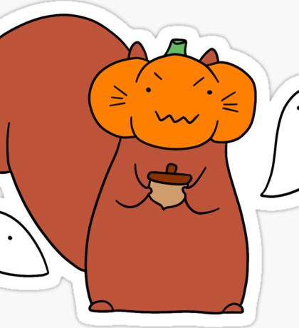 Ghost Pumpkin Squirrel Sticker