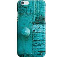 Rustic Green Door iPhone Case/Skin