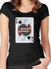 Dark One of spades Women's Fitted Scoop T-Shirt