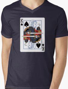 Dark One of spades Mens V-Neck T-Shirt
