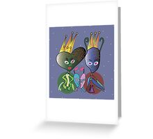 The Space Royal Family Greeting Card