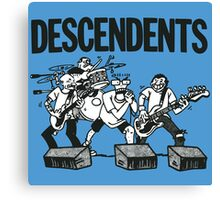 Descendents Cartoon Canvas Print