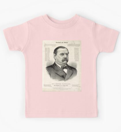 Gov. Grover Cleveland, 22nd President of the United States - 1885 Kids Tee