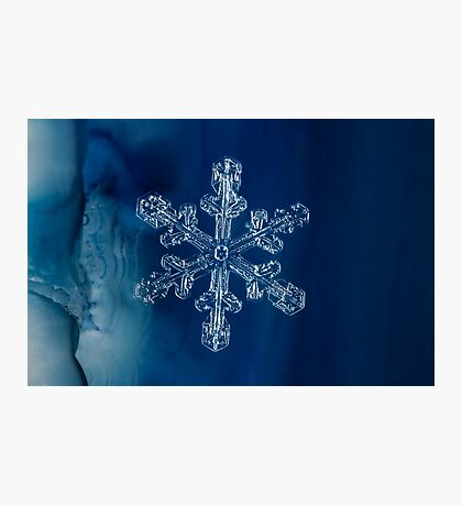 Blue Ice Snowflake Photographic Print