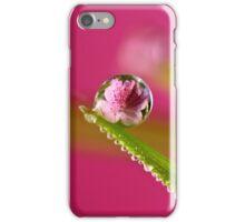 Pink Azalea Dew Drop Refraction iPhone Case/Skin