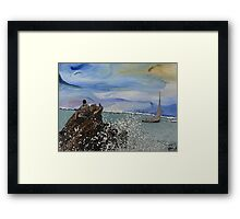 A Man Looks Out To Sea Framed Print