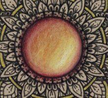 Golden Gemstone Mandala Sticker