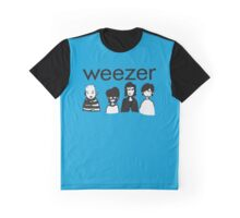 Blue Cartoon Graphic T-Shirt