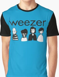 Blue Cartoon Graphic T-Shirt