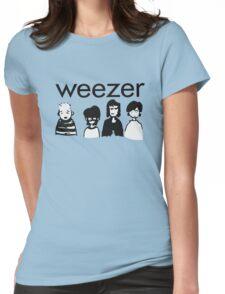 Blue Cartoon Womens Fitted T-Shirt