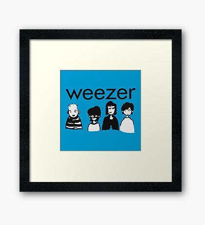 Blue Cartoon Framed Print