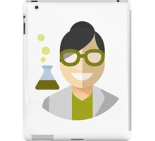 Black-Haired Scientist Woman iPad Case/Skin