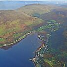Isle of Arran, Scotland. Lochranza from the air. by youmeus