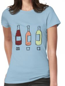 Red Wine Type Womens Fitted T-Shirt