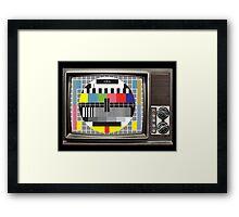 Retro TV Framed Print