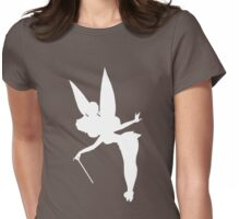 White Tinker Silhouette Womens Fitted T-Shirt