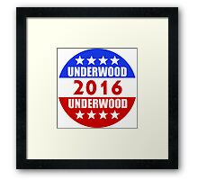 Underwood Underwood 2016 House of Cards Frank Claire Campaign Framed Print