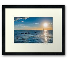Looking Into The Sun Framed Print
