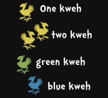 One Kweh Two Kweh Green Kweh Blue Kweh Baby Tee