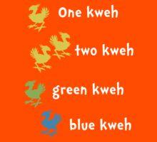 One Kweh Two Kweh Green Kweh Blue Kweh Kids Tee