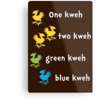 One Kweh Two Kweh Green Kweh Blue Kweh Metal Print
