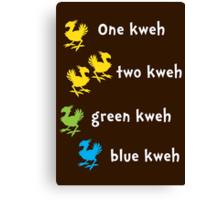 One Kweh Two Kweh Green Kweh Blue Kweh Canvas Print