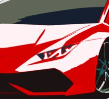 Lamborghini illustration red Sticker