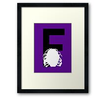 F is for the Face of Boe Framed Print