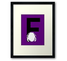 F is for the Face of Boe #2 Framed Print