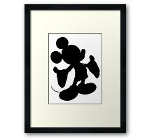 Black Mickey Mouse Silhouette Framed Print