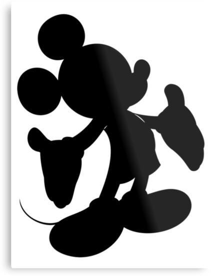 Black Mickey Mouse Silhouette by BethannieeJ