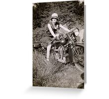 Brough Superior motorcycle - 1930s Greeting Card