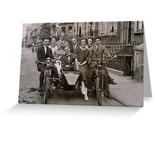 Family and friends - London 1920s Greeting Card