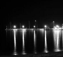 Night Lights (BW) by Vicki Spindler (VHS Photography)