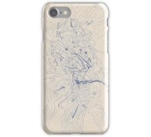 0608 - Abstract Portrait of a Pipe-Smoking Man iPhone Case/Skin