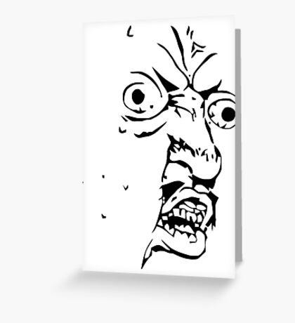 Y U NO - Meme Greeting Card