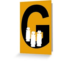 G is for Gallifreyans Greeting Card